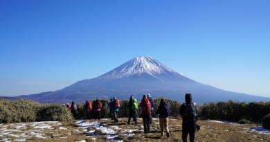 竜ヶ岳と富士山