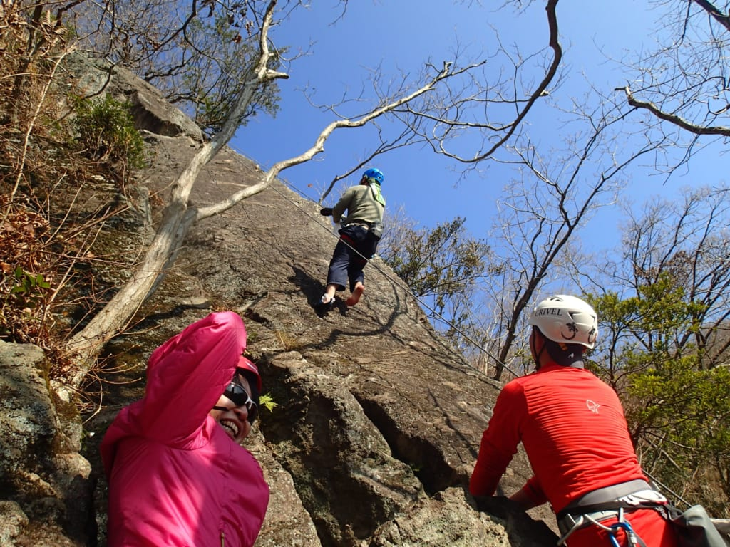湯河原幕岩クライミング体験講習