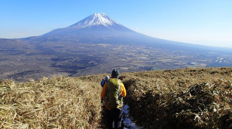 富士山を眺めながら下山