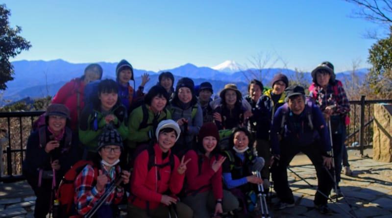 高尾山で集合写真