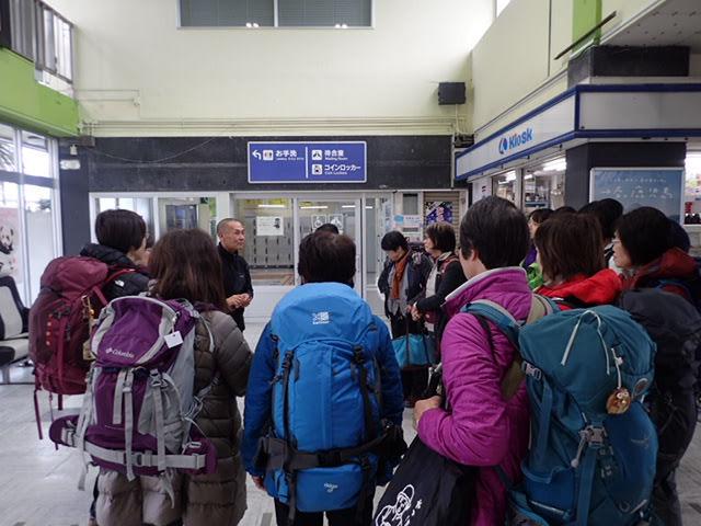 新宮駅でくまさんと対面