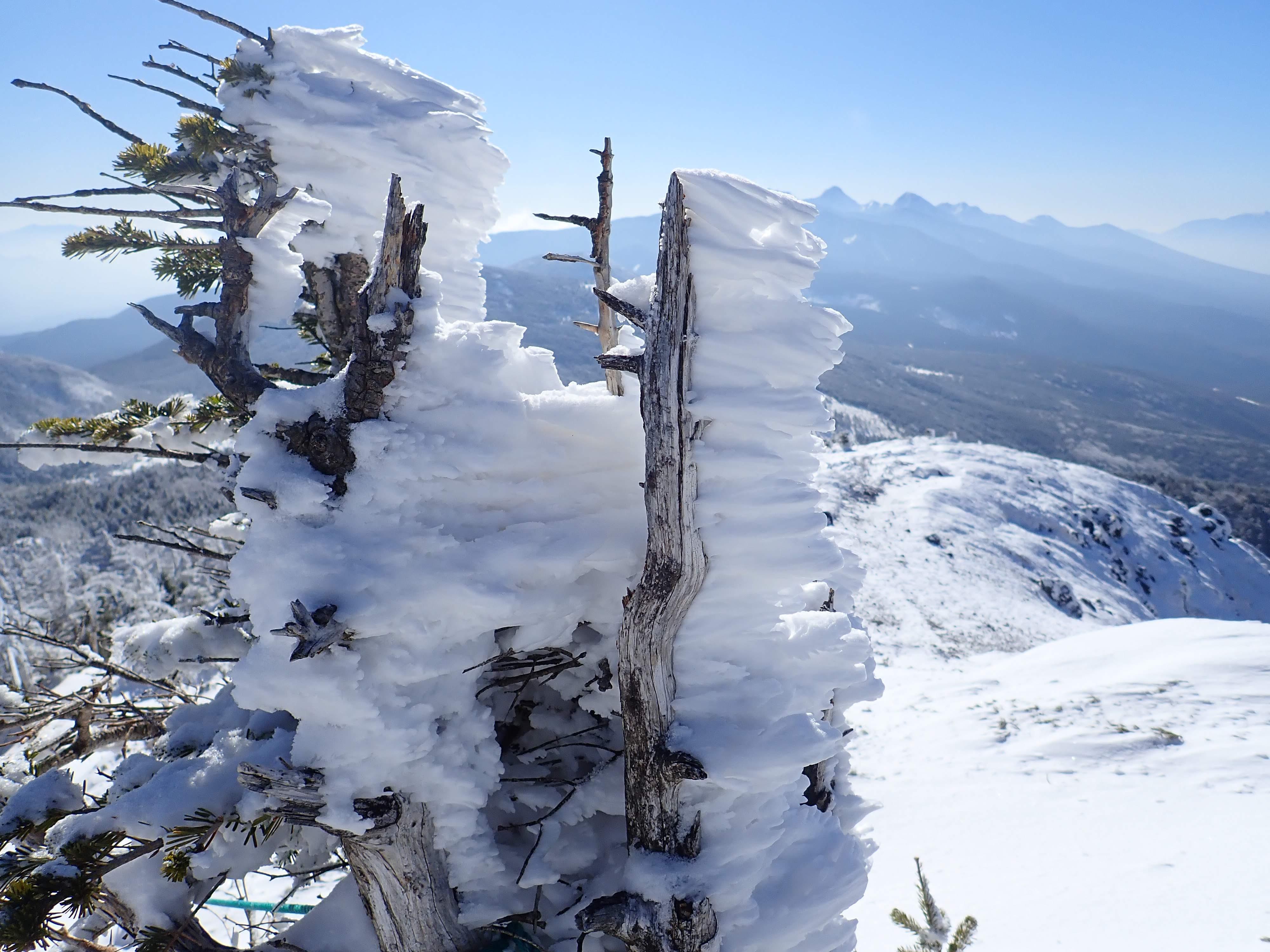 北横岳雪山登山