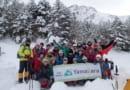 雪の赤岳鉱泉・行者小屋軽アイゼントレッキング