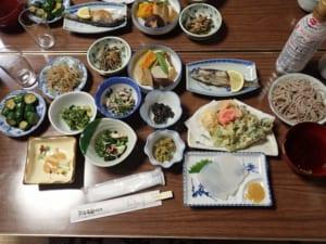 両神山荘 夕食