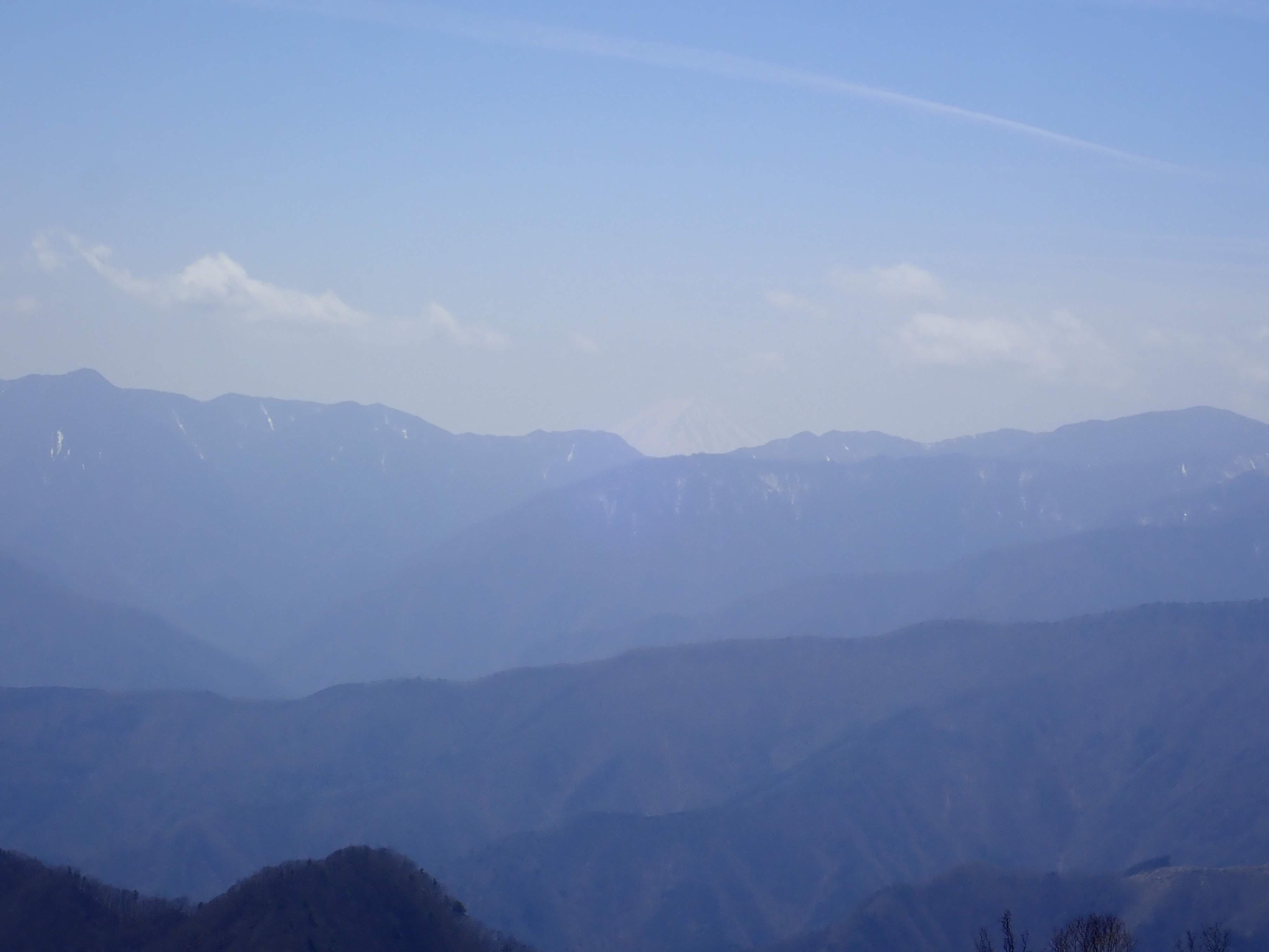 富士山うっすら