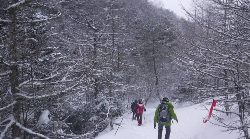 1月12日黒斑山 雪山登山にチャレンジしてまいりました!